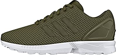 meet 3d2f7 3568f adidas Mens Originals Mens ZX Flux Trainers in Olive - UK12