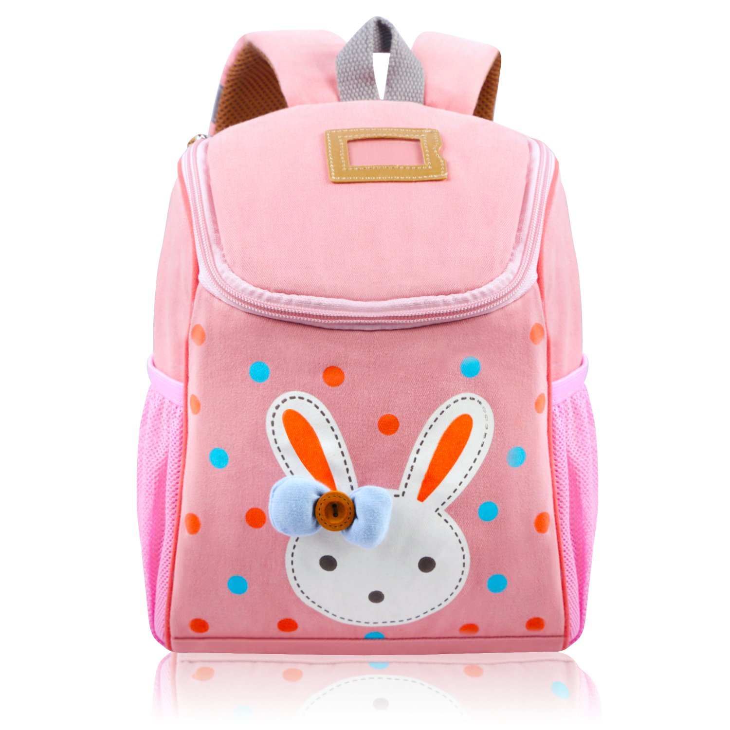 d78fca40de6c9 Vox Toddler Backpack for Girls Little Kids Backpack Cute Rabbit Cartoon  Backpack Preschool Bags, Pink