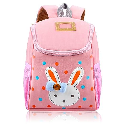 1f4ebe7d8e Vox Toddler Backpack for Girls Little Kids Backpack Cute Rabbit Cartoon  Backpack Preschool Bags