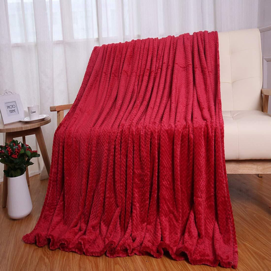 Sdhisi Iu 毛布 二重厚い メッシュ あったか ふわふわ エアコン毛布 敷物 キルト ホームに適し 抗菌防臭 冷房対策 通年使用 (色 : レッド) B07T6ZKPQQ レッド