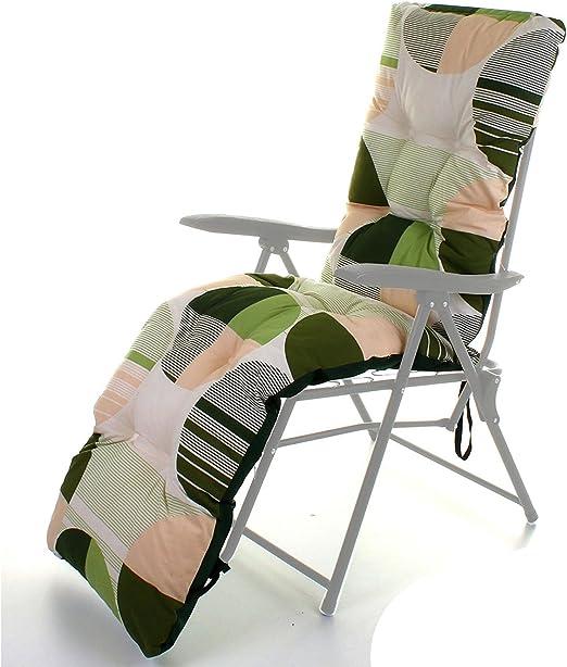 Para exteriores tumbona de jardín cojín grueso acolchado para Patio reclinable – Alta calidad relajante reclinable barato tumbona cojín: Amazon.es: Jardín