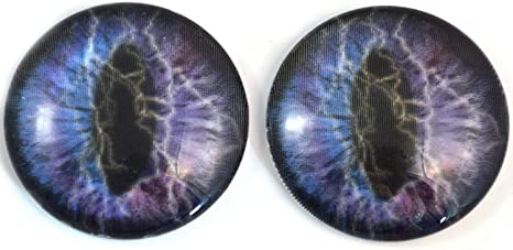 Jewelry 40mm Ring of Fire Dragon Glass Eyes Cabochons Set Dolls Fursuit