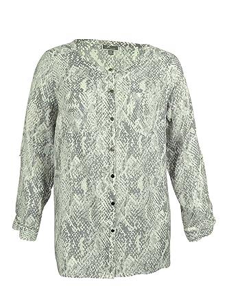 JM Collection Women s 100% Linen Animal Print Shirt (16W 91ace4846