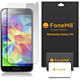 FoneM8® - Samsung Galaxy S5, S5 Neo Screen Protector (PACK OF 5) Retail Packed - Includes Microfibre Cleaning Cloth And Application Card
