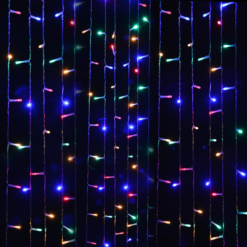 Curtain Lights, IMAGE 224 LED 117.6 IN 79.2 IN LED Lights String Fairy String Lights for Garden/Wedding/Party/Window/Home Decorative - Multi Color by Unknown (Image #7)