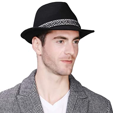 Mens Women Homburg Gangster Hat Wool Felt Fedora 1920s Derby Hat Frank  Sinatra Manhattan Mafia Godfather b0313eb8a67