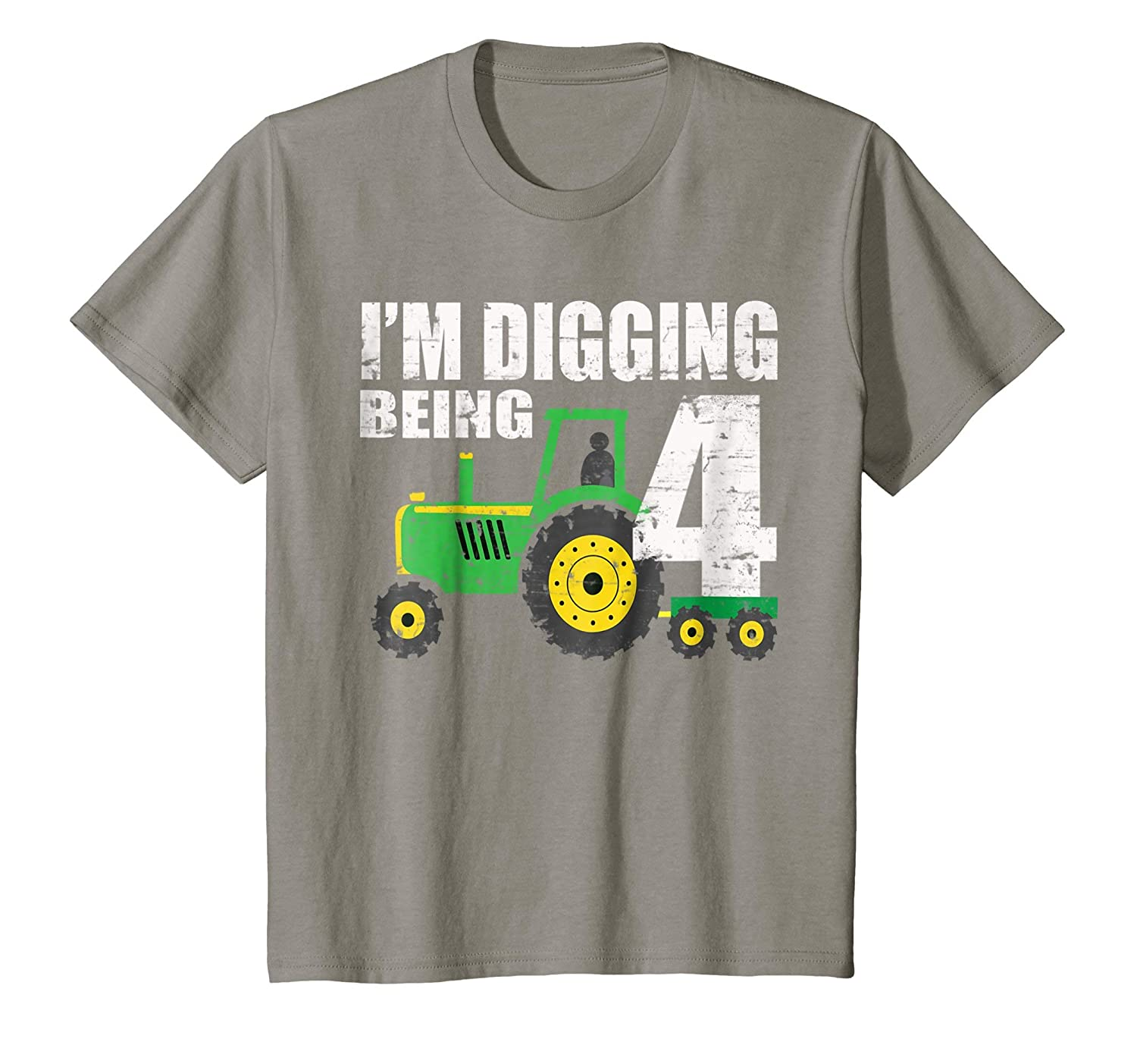 58d4d6382 Kids 4 Year Old Tractor Birthday Shirt 4th Birthday Shirt Boy: Amazon.ca:  Clothing & Accessories