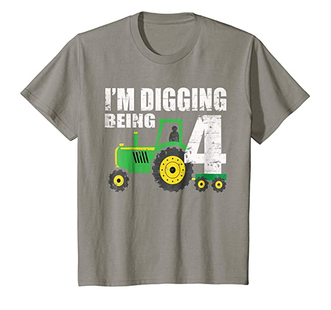 Kids 4 Year Old Tractor Birthday Shirt 4th Boy Amazonca Clothing Accessories