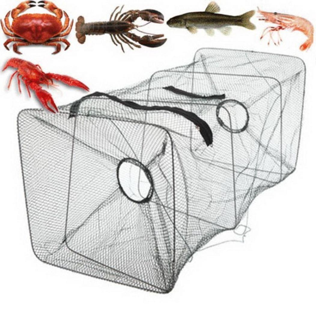 Mamum Falte die Garnelen Netze, neue faltbar Fisch Karpfen Köder Angeln Käfig Gusseisen Immersion Käfig Garnelen Korb