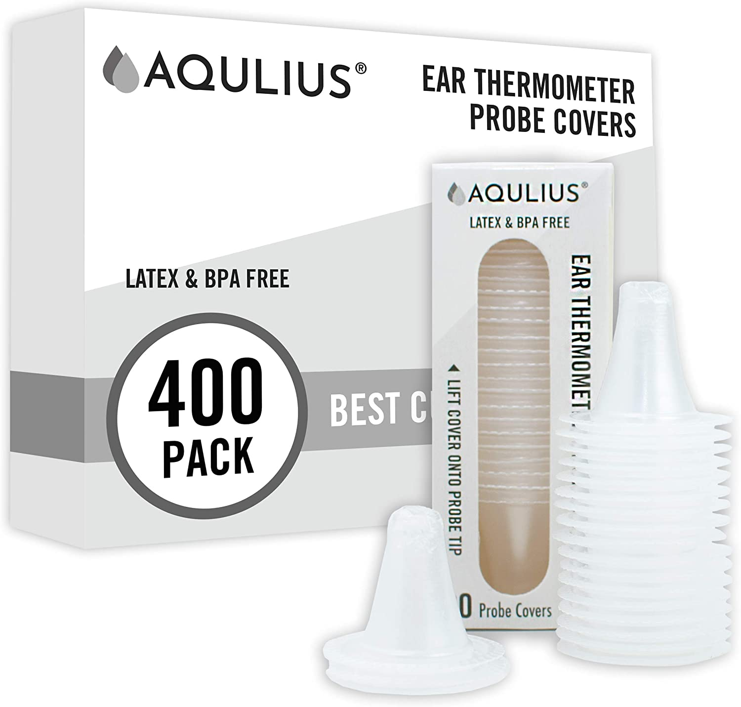 400 Pack of Ear Thermometer Disposable Covers (Universal Fit - Medical Grade) Compatible with All Braun Thermoscan & Phillips Ear Thermometers - Bulk Refill Pack of 400: Health & Personal Care