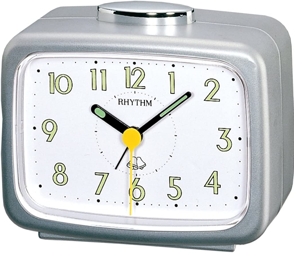 Rhythm - Despertador con Alarma Campana, Color Plata metálico - 4RA456WR19