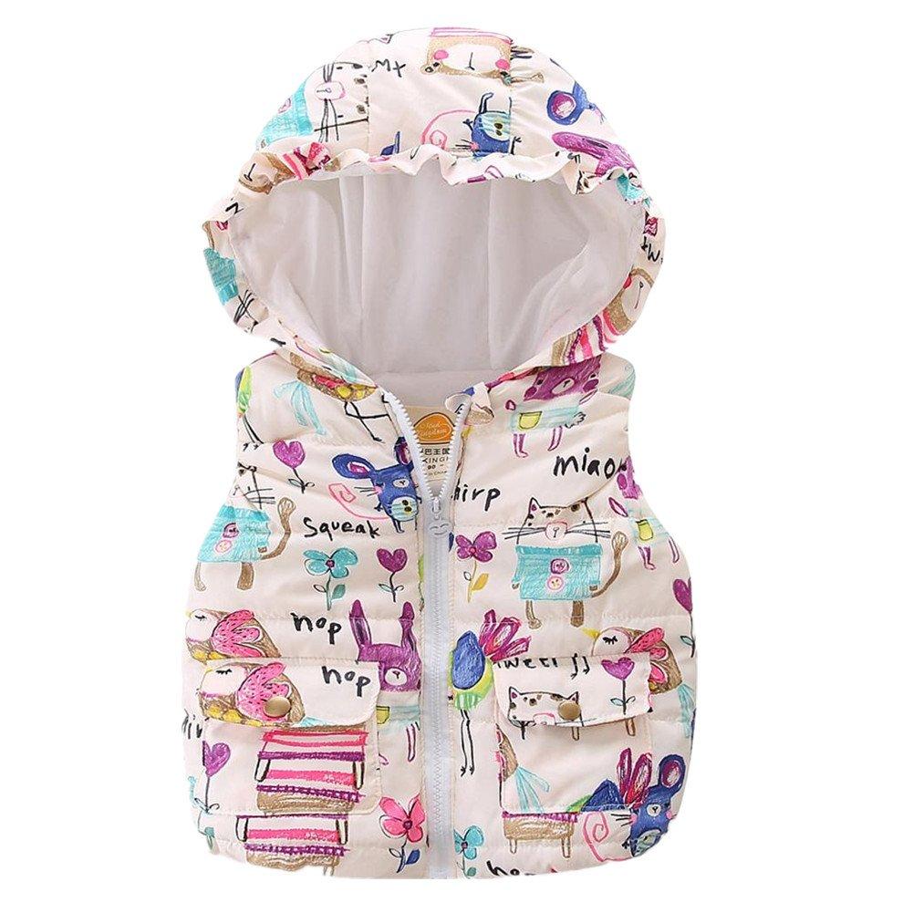 LittleSpring Little Girls' Vest Hooded SLS-S0211