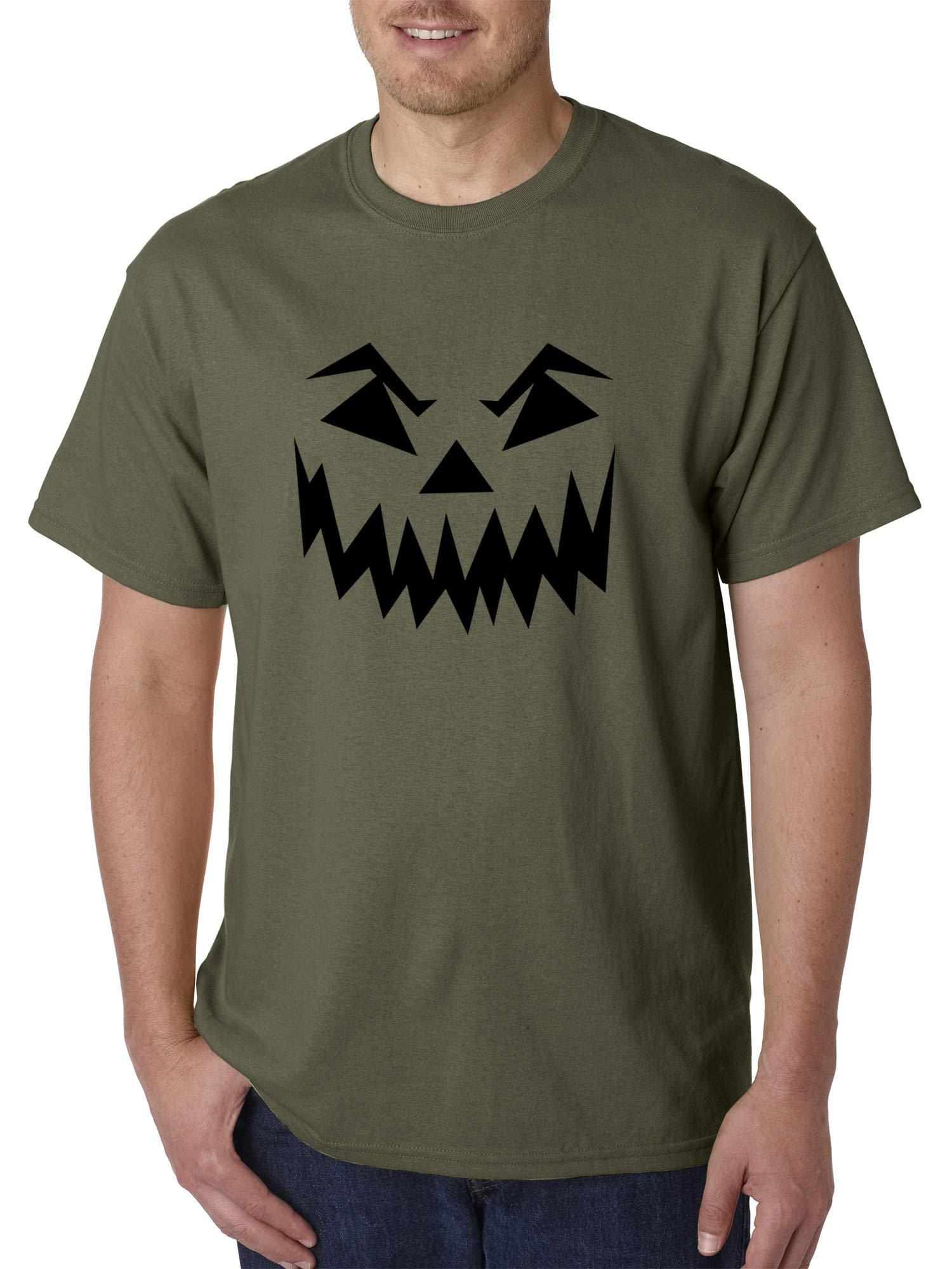 972 Unisex Scary Halloween Pumpkin Face Jack O Lantern Shirts