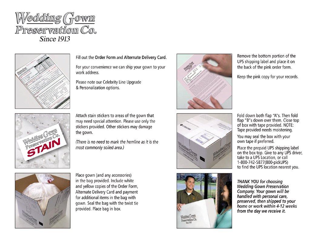 Amazoncom Wedding Gown Preservation Kit Celebrity Deluxe Box