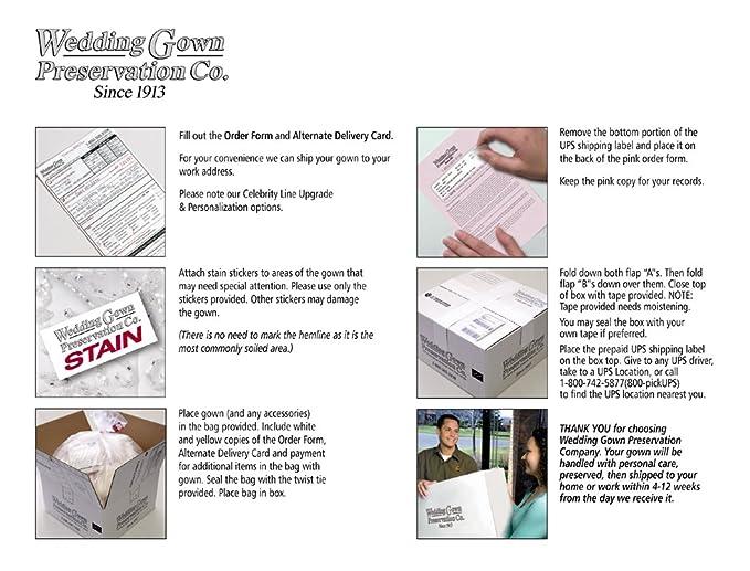Amazon.com: Wedding Gown Preservation Kit - Celebrity Deluxe Box ...