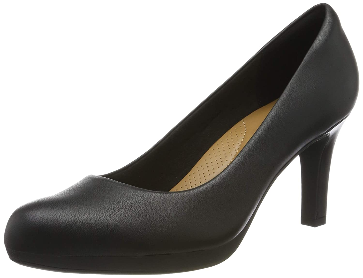 Schwarz(schwarz Leather) Clarks Damen Adriel lila Pumps