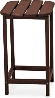 product image for POLYWOOD SBT26MA South Beach 26-Inch Counter Side Table, Mahogany