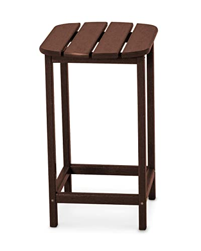 POLYWOOD SBT26MA South Beach 26-Inch Counter Side Table, Mahogany