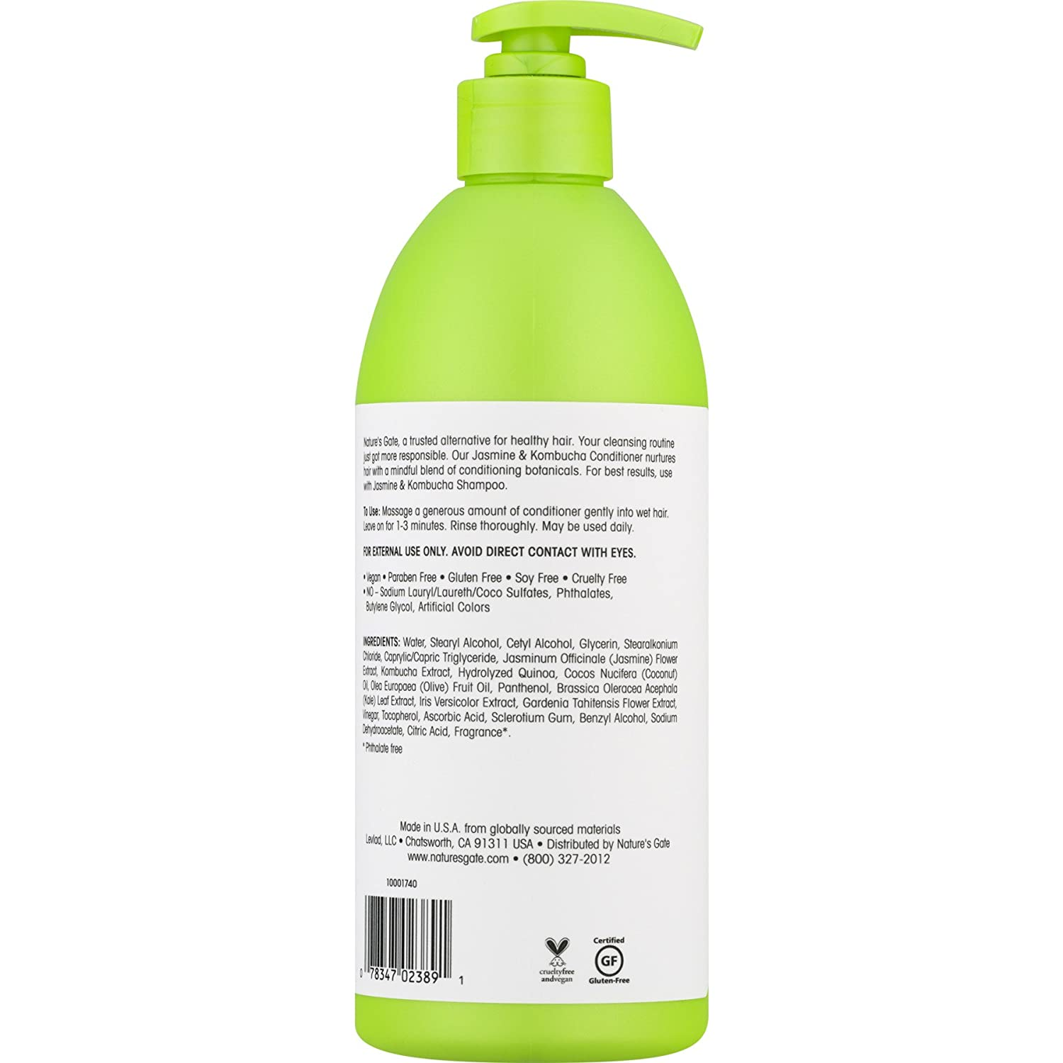Amazon natures gate shine enhancing conditioner jasmine amazon natures gate shine enhancing conditioner jasmine kombucha 18 fl oz beauty izmirmasajfo