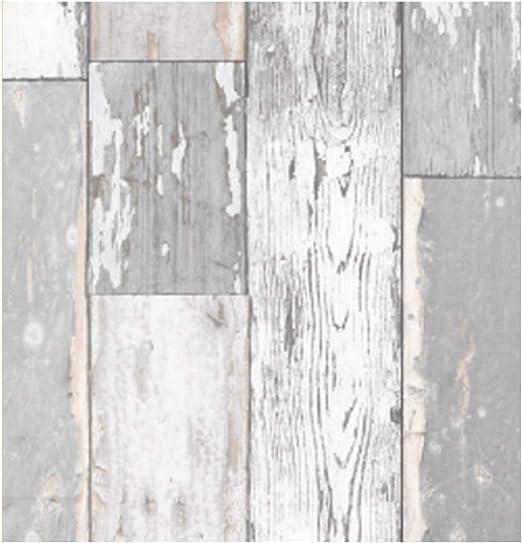 Klebefolie Möbel Holzoptik Scrapwood hell grau 90x200cm Möbelfolie Vintage Deko