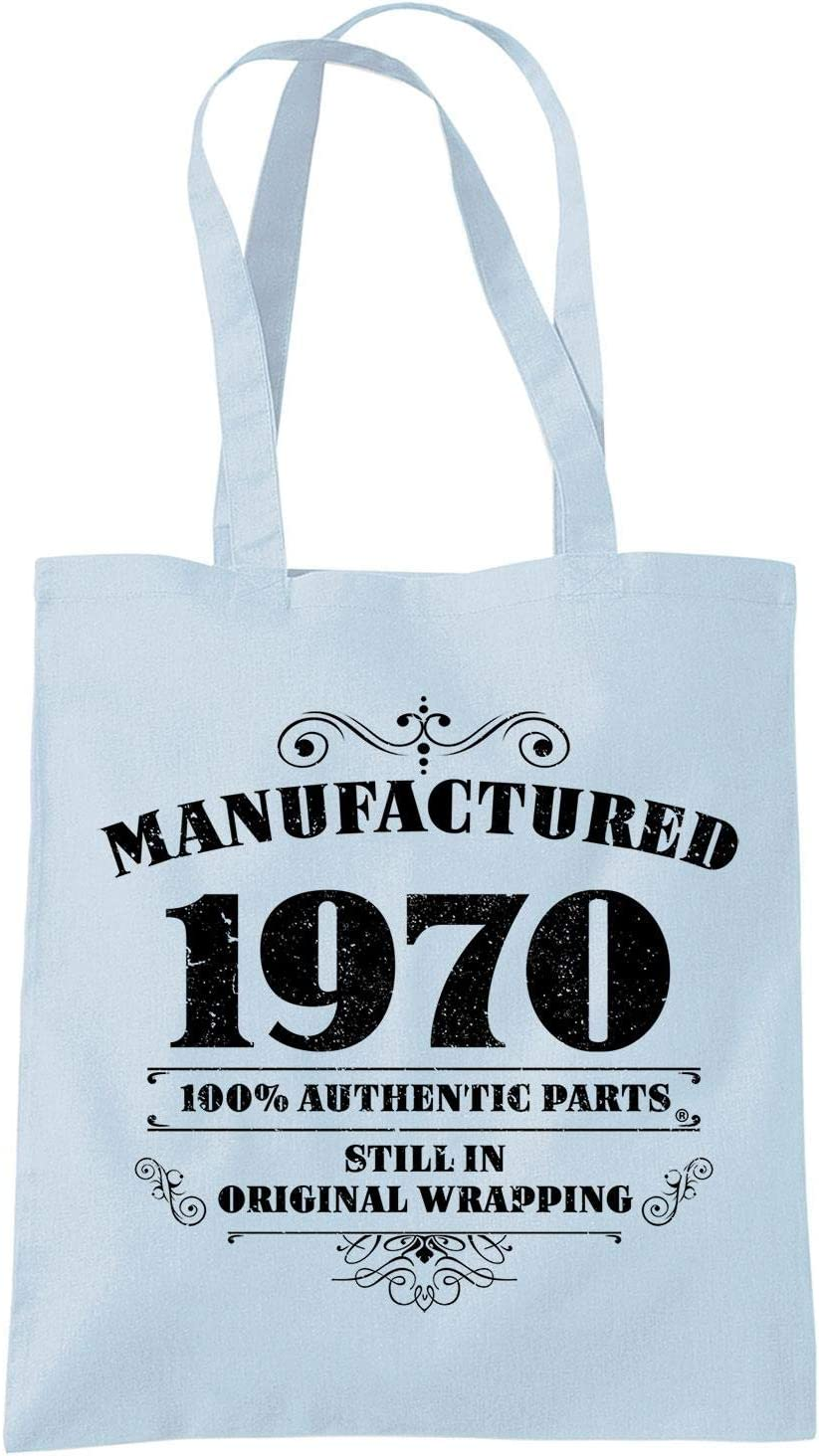 50th Birthday Gifts for Women Men Manufactured 1970 Funny Tote Bags Present