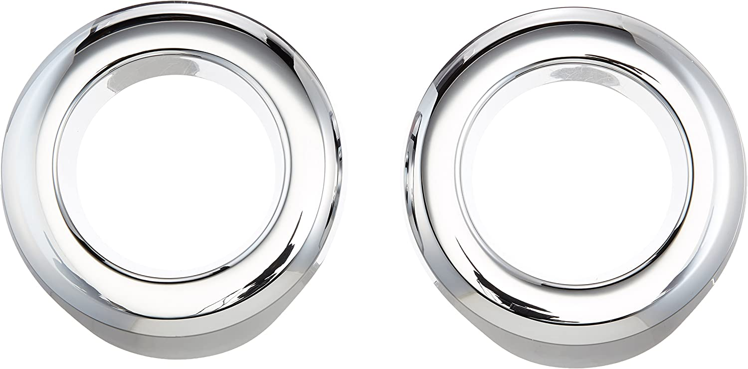 Putco 400508 Chrome Fog Lamp Overlay and Ring Trim for Select Jeep Models