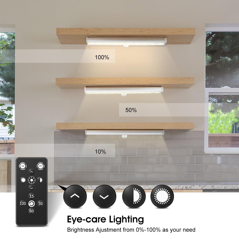 3er LED Unterbauleuchte für Küche, Fansteck Dimmbare LED Panel ...