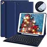 iPad 7th Generation Case with Keyboard, iPad 10.2 2019 Keyboard Case with Pencil Holder, Auto Sleep/Wake Smart Cover with Wireless Detachable Wireless Keyboard for iPad 7th Gen 10.2 inch–Tablet Case