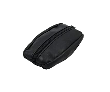mamjack – Monedero de hombre – de Piel auténtica – negro – para bolsillos de pantalón o chaqueta