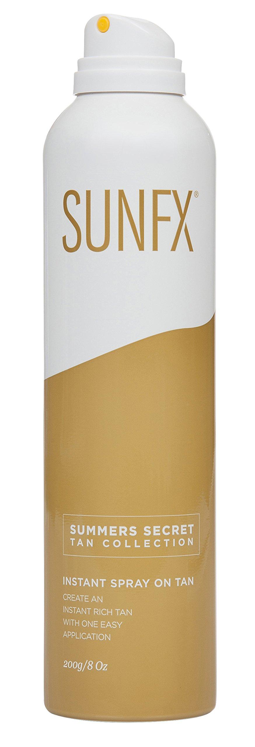 SunFX Summer's Secret Instant Bronzing Spray on Tan (4 Pack)