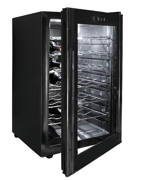 Lacor - 69175 - Armario refrigerador 28 Botellas Black Line 70w ...