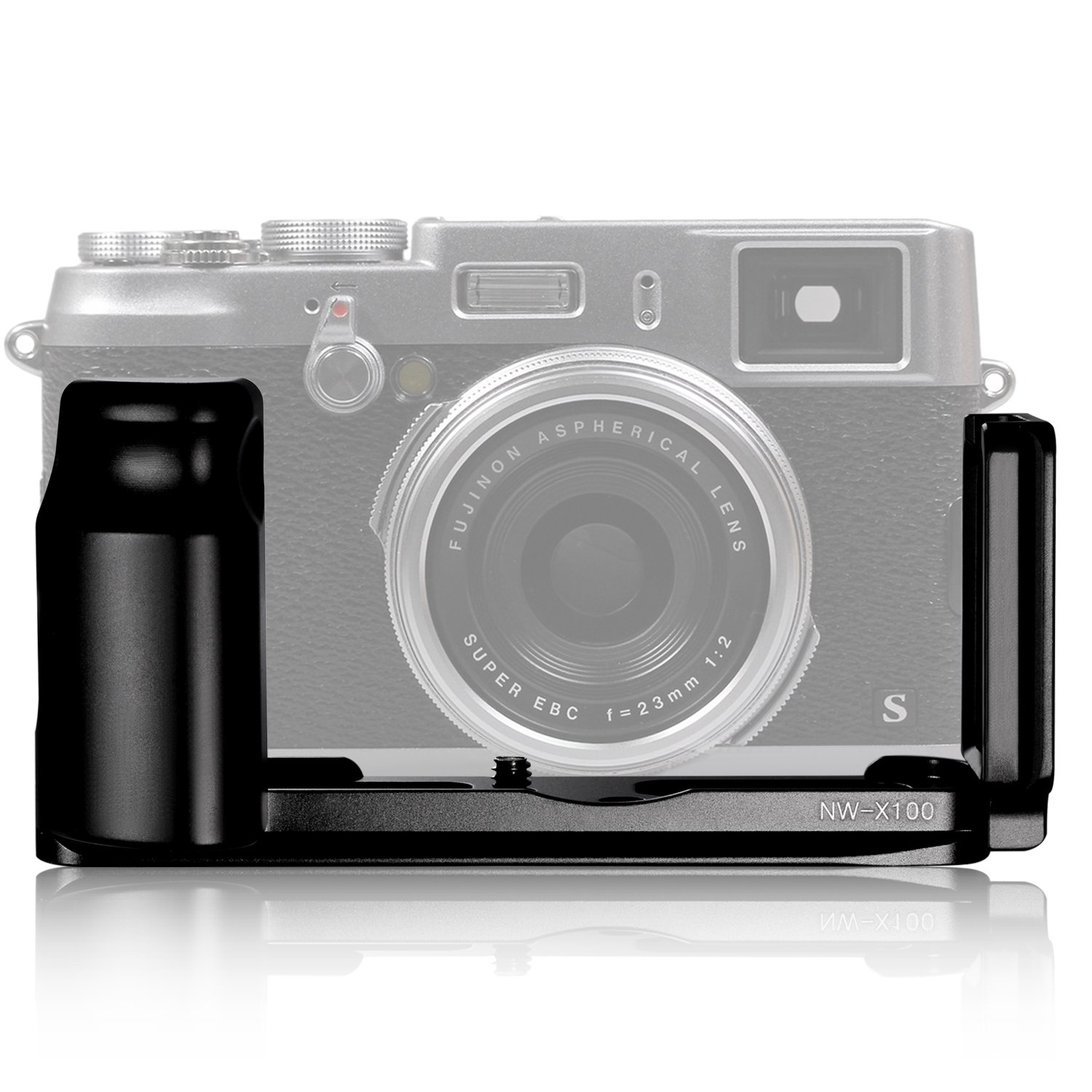Neewer Black Metal Camera Quick Release Hand Grip L Plate for Fuji X100 X100S Cameras with Arca Swiss Compatible 10074631