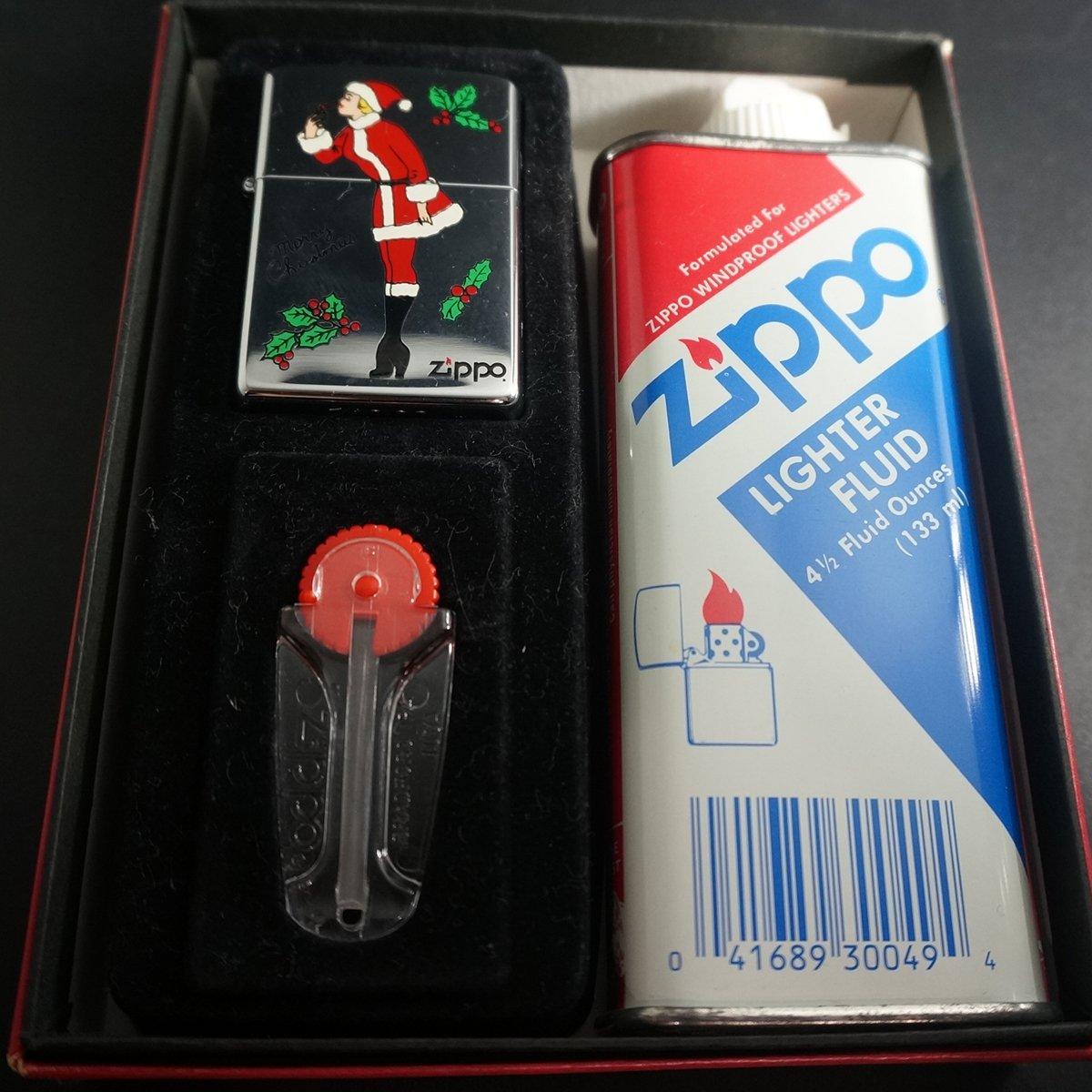 zippo WINDY クリスマスガール ギフトBOXセット1994年製造 B076LXSSH7