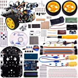 Kuman Sm2 Robot Car Kit for Arduino, 2 Wheel Utility Vehicle Intelligent Robotics Ds Robot Smart Car Kit Obstacle Avoidance,tracking