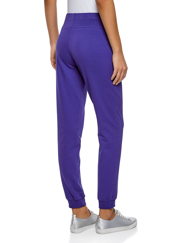 oodji Ultra Mujer Pantalones de Punto con Bordado
