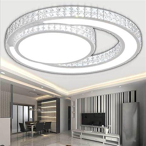 Larsure Estilo Vintage Modern Iluminación de techo Plafones acrílicos luces LED lámpara de techo salón ronda