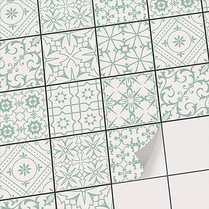 Stickers carrelage - Carrelage adhésif - Feuille adhésive décorative  Carreaux I Stickers mosaïques muraux pour Salle d\'eau et Credence Cuisine I  ...