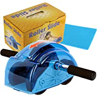 Maxspace Ab Roller Wheel, Rebound Abdominal Roller with Knee Mat Gear and Turtle Shell Cover Protection Ab Trainer…
