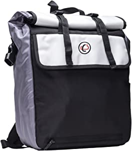 Case-It Laptop Backpack 2.0 with Hide-Away Binder Holder, Fits 13 Inch and Some 15 Inch Laptops, Black (BKP-202-BLK)