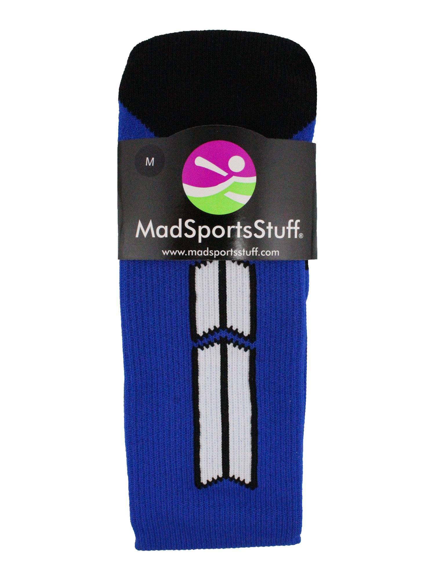 MadSportsStuff Royal/White Player Id Over The Calf Number Socks (#47, Large) by MadSportsStuff (Image #3)
