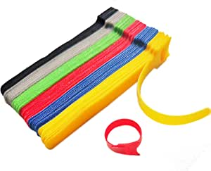 60PCS Cable Ties,Hook And Loop Cable Management,6 Color(6in),Free Paste, Reusable Cable Manager, Suitable For Computer Data Cable, Tv Cable, Electronic Equipment, Headphone Cable, Microphone Cable, Etc.