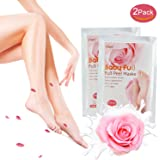 Premium Fußmaske, Babyfüße, Fuß Peeling Maske, Peeling Socken, iSuri 2 Paar Roseextrakt Exfoliating Foot Peel Mask für Männer Frauen- hervorragende Ergebnisse in 3-7 Tagen …