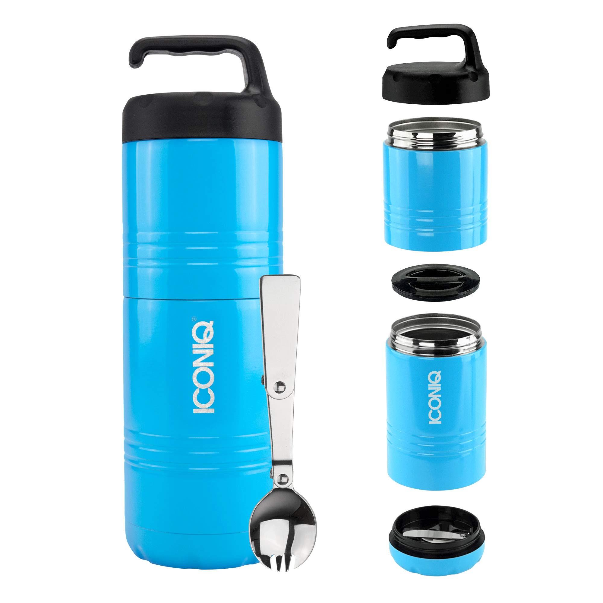 83a9337ec6 Iconiq Qore - contenitore isolato impilabile in acciaio inox per alimenti  Stack Pack | Ocean Blue