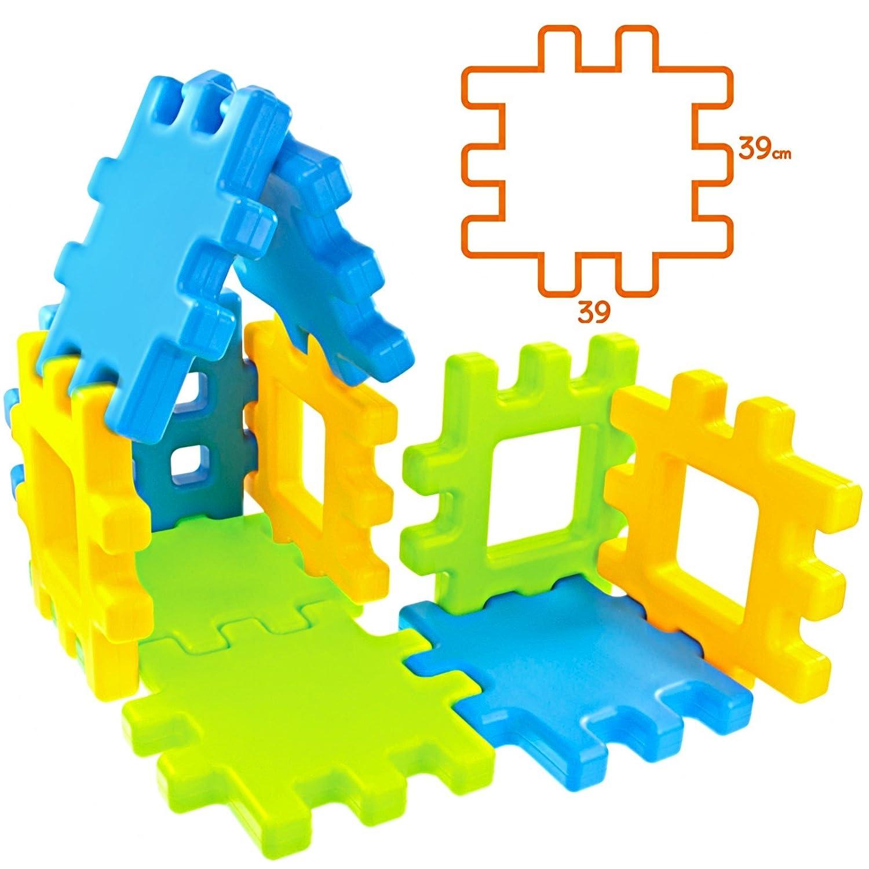 TikTakToo XXL Steckbausteine Waffelblocks für Kindergärten oder privat, Indoor Outdoor, 20tlg. B01MY99J0K Bauklötze & Bausteine Schöne Kunst   Neuer Stil