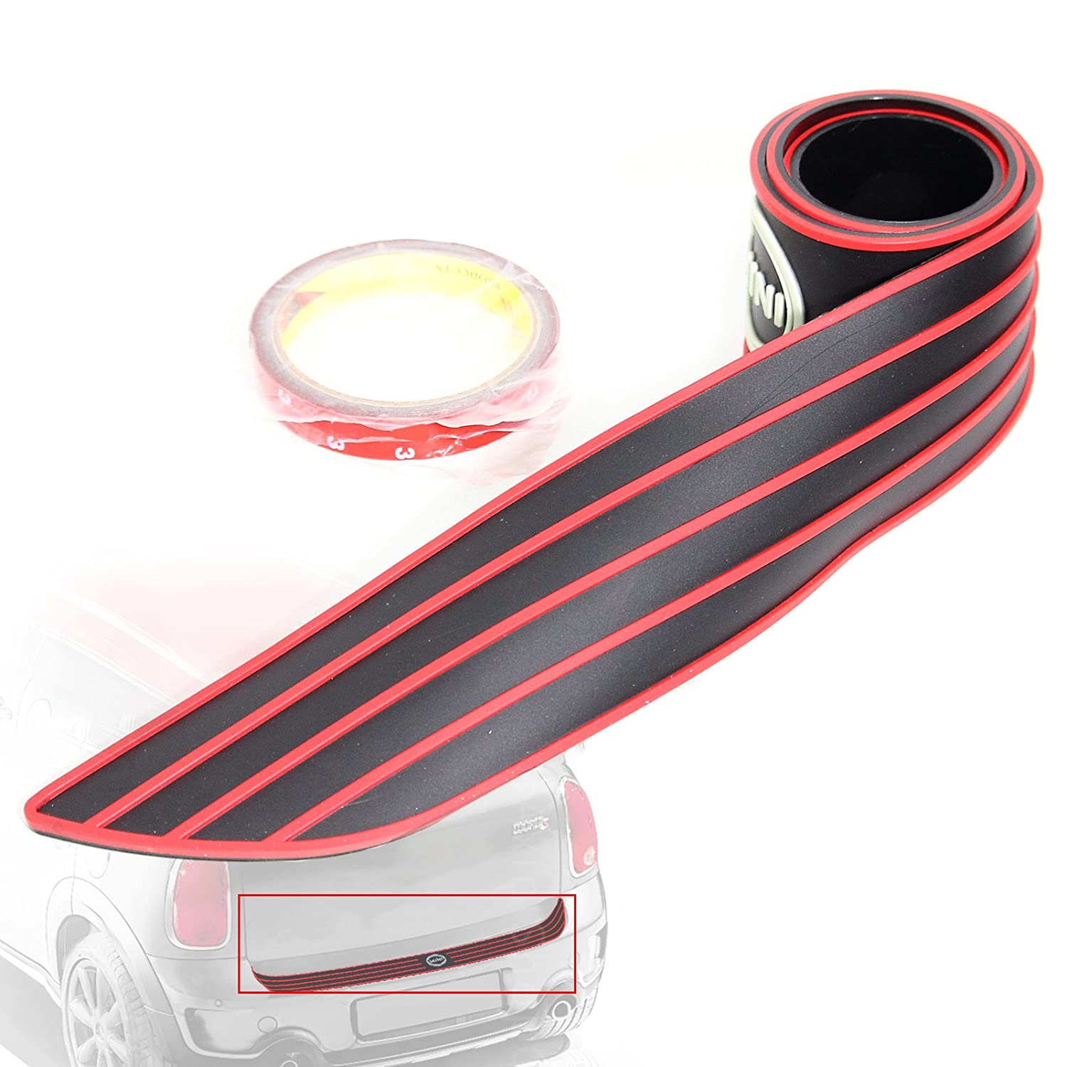 White Rear Bumper Trunk Load Edge Anti-Scratc Guand Trim Rubber Strip for MINI Cooper Clubman R55 Hatchback F55 F56