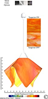 product image for Jezebel Radiance JRWH-FP16-TAG-TRWH White Flame Track Light, Large, Tangerine