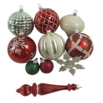 Jaclyn Smith Collection Shatterproof Assorted Ornaments Green Gold and Red  50ct - Amazon.com: Jaclyn Smith Collection Shatterproof Assorted Ornaments