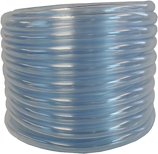 Duda Energy LPpvc075-010ft 25 x 3//4 ID Low Pressure Clear Flexible PVC Tubing Heavy Duty UV Chemical Resistant Vinyl Hose