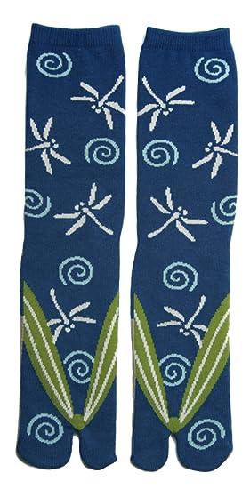 Japanese Samurai Ninja Tabi Socks; Dragonflies