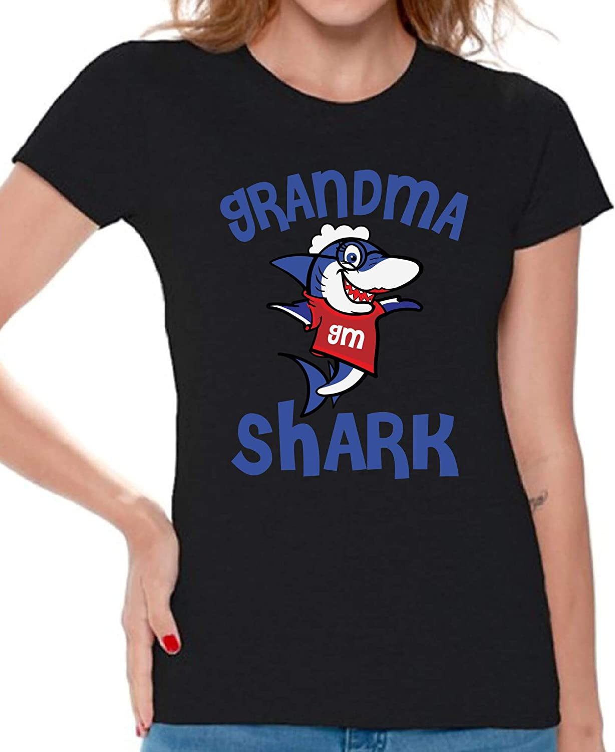 Awkward Styles Grandma Shark Tshirt Shark Family Shirt for Women Shark Gifts for Her